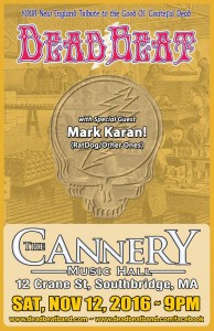 Saturday November 12, 2016 – The Cannery Music Hall – Southbridge, MA – WITH SPECIAL GUEST MARK KARAN!