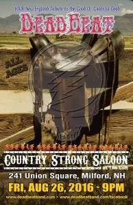 Friday, August 26 2016 – Country Strong Saloon – Milford, NH –  ALL AGES!