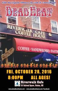 Friday October 28, 2016 – Riverwalk Cafe – Nashua, NH –  ALL AGES