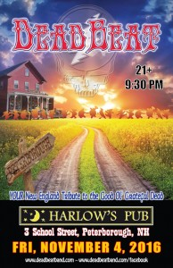 Friday November 4, 2016 – Harlow's Pub – Peterborough, NH – 21+