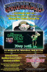 Saturday, May 20 – Mendon Twin Drive In – The Grateful Dead Movie – ALL AGES!