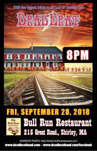 Friday, September 28, 2018 at 8PM – Bull Run – Shirley, MA