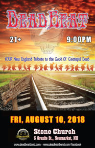 Friday August 10, 2018 at 9PM – Stone Church – Newmarket, NH