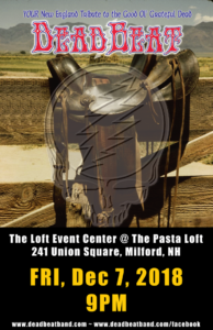 Friday, December 7, 2018 at The Loft Event Center – Milford NH