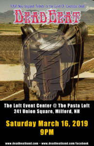 Saturday March 16, 2019 at The Loft Event Center – Milford NH