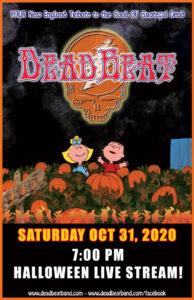 Saturday October 31, 2020  – Halloween Live Stream